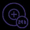 Proactive Response 24 hours Icon